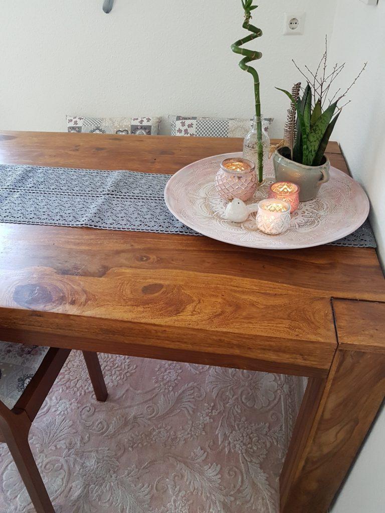 Dekoidee Esszimmer DIY Kreidefarbe Holzschale